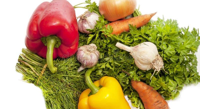 Φρέσκα λαχανικά και πράσινα στοκ εικόνες με δικαίωμα ελεύθερης χρήσης