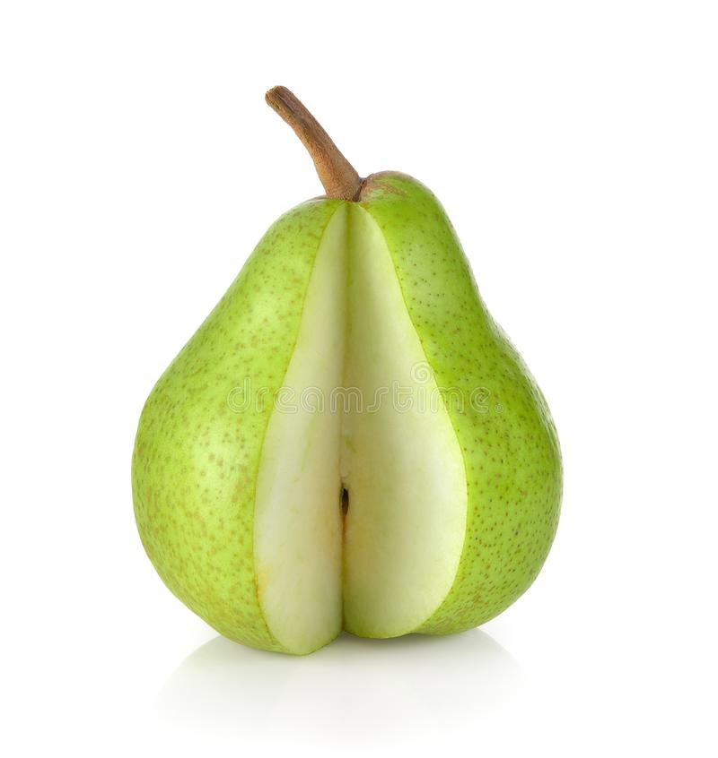 Φρέσκα πράσινα αχλάδια στο άσπρο υπόβαθρο στοκ φωτογραφία με δικαίωμα ελεύθερης χρήσης