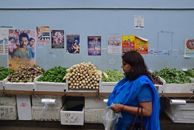 Φρέσκα προϊόντα καταναλωτικής αγοράς που περνούν από ένα μακροχρόνιο επιτραπέζιο σύνολο των λαχανικών στοκ εικόνα με δικαίωμα ελεύθερης χρήσης