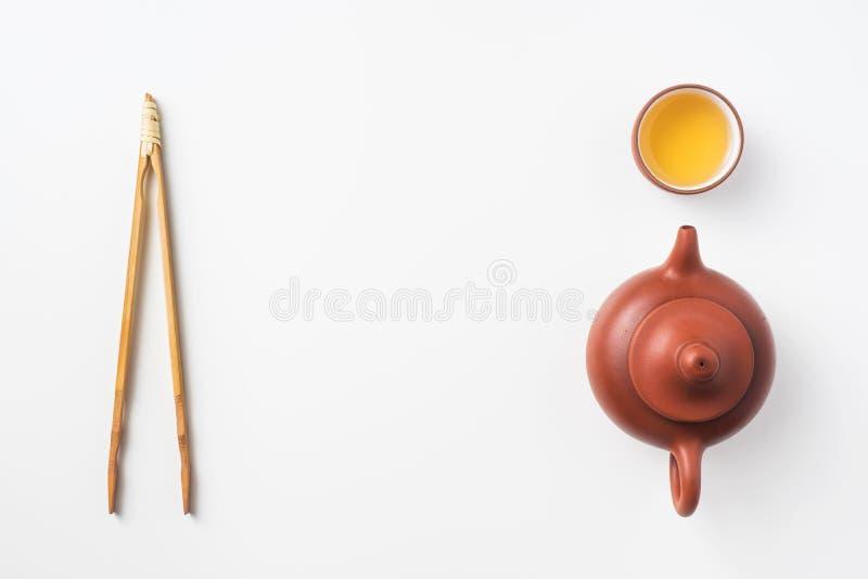 Φρέσκα τσάι και teapot της Ταϊβάν oolong στοκ εικόνες με δικαίωμα ελεύθερης χρήσης
