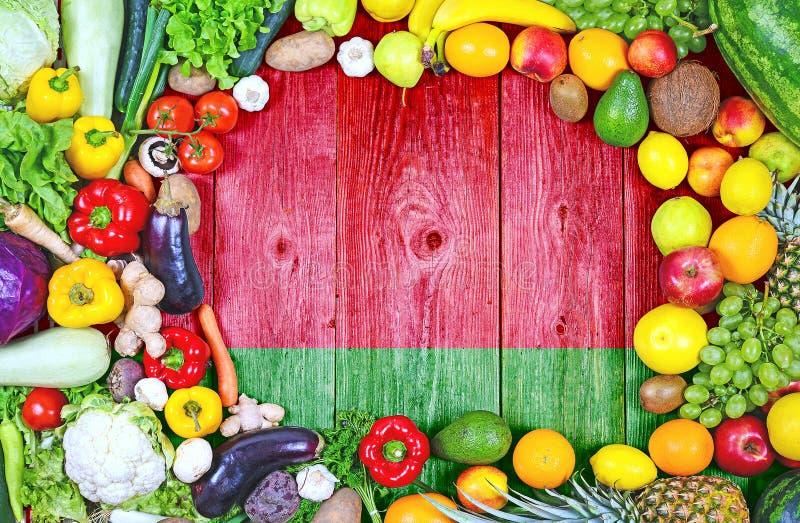 Φρέσκα φρούτα και λαχανικά από τη Λευκορωσία στοκ εικόνα με δικαίωμα ελεύθερης χρήσης