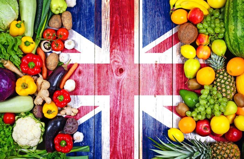 Φρέσκα φρούτα και λαχανικά από το Ηνωμένο Βασίλειο στοκ φωτογραφία με δικαίωμα ελεύθερης χρήσης