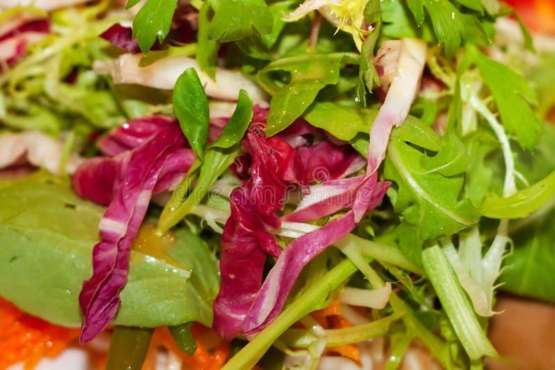 Φρέσκα φύλλα μιγμάτων της πράσινης σαλάτας στοκ εικόνα με δικαίωμα ελεύθερης χρήσης