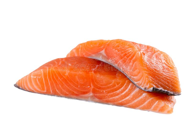 Φρέσκα ψάρια σολομών που απομονώνονται στο άσπρο υπόβαθρο χωρίς σκιά - εικόνα στοκ φωτογραφία με δικαίωμα ελεύθερης χρήσης