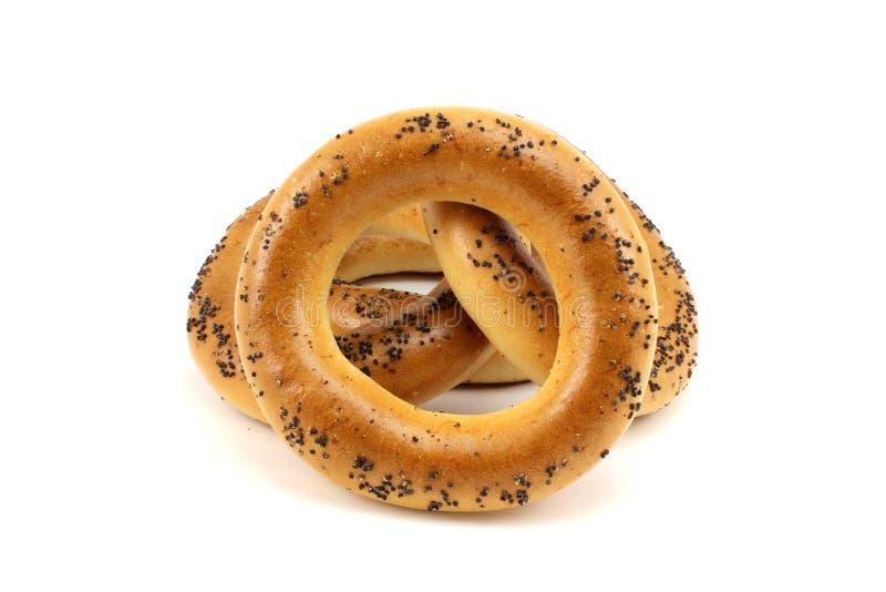 Φρέσκα bagels παπαρουνών στοκ εικόνες με δικαίωμα ελεύθερης χρήσης