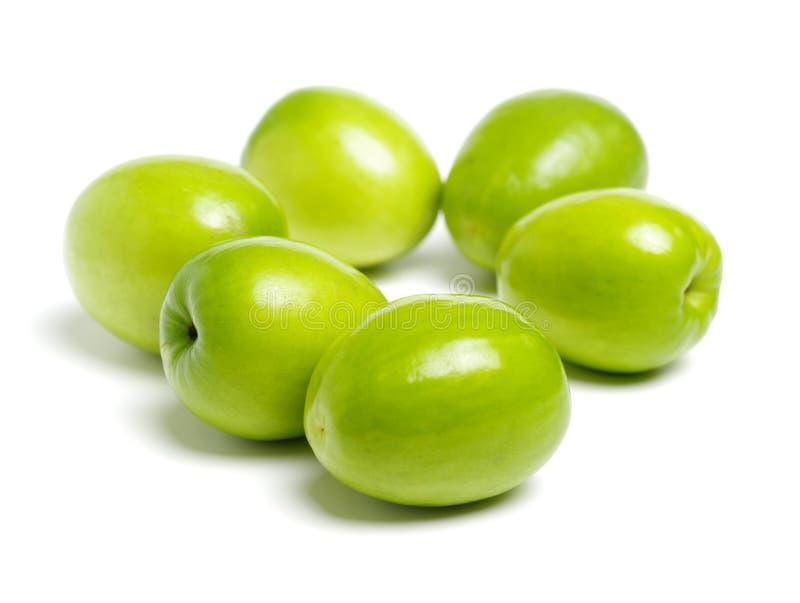 Φρέσκα jujubes στο λευκό Κάλεσε επίσης κινεζικό πράσινο jujube, παράγεται στην Κίνα Ταϊβάν στοκ εικόνες