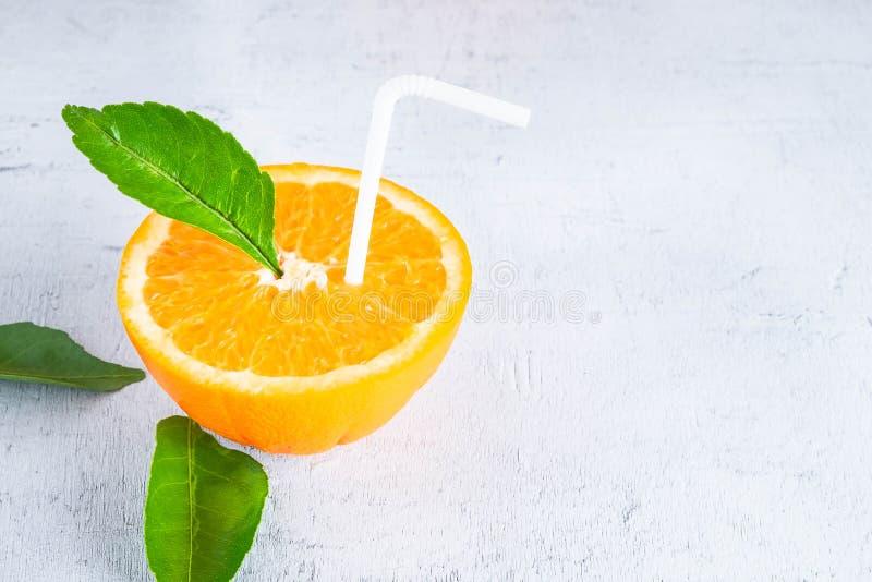 Φρέσκες ιδέες χυμού από πορτοκάλι στοκ εικόνες