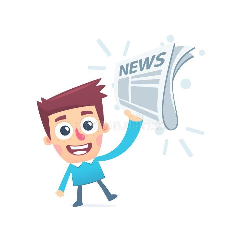 Φρέσκες καυτές ειδήσεις απεικόνιση αποθεμάτων