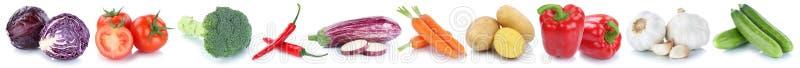 Φρέσκες πατάτες αγγουριών ντοματών καρότων λαχανικών που απομονώνονται μέσα στοκ εικόνες με δικαίωμα ελεύθερης χρήσης