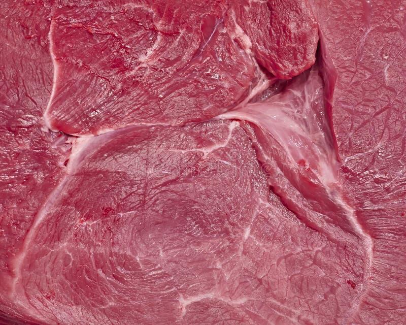 Φρέσκια ακατέργαστη κινηματογράφηση σε πρώτο πλάνο κρέατος στοκ εικόνες