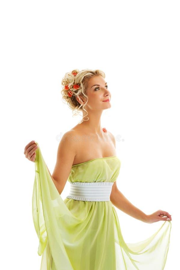 φρέσκια γυναίκα άνοιξη λουλουδιών στοκ φωτογραφία με δικαίωμα ελεύθερης χρήσης