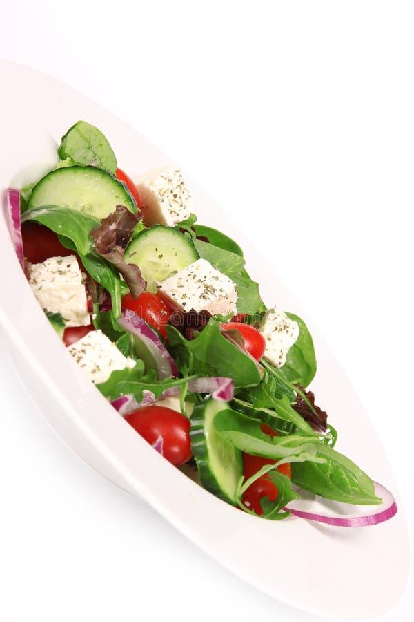 φρέσκια ελληνική σαλάτα στοκ εικόνες