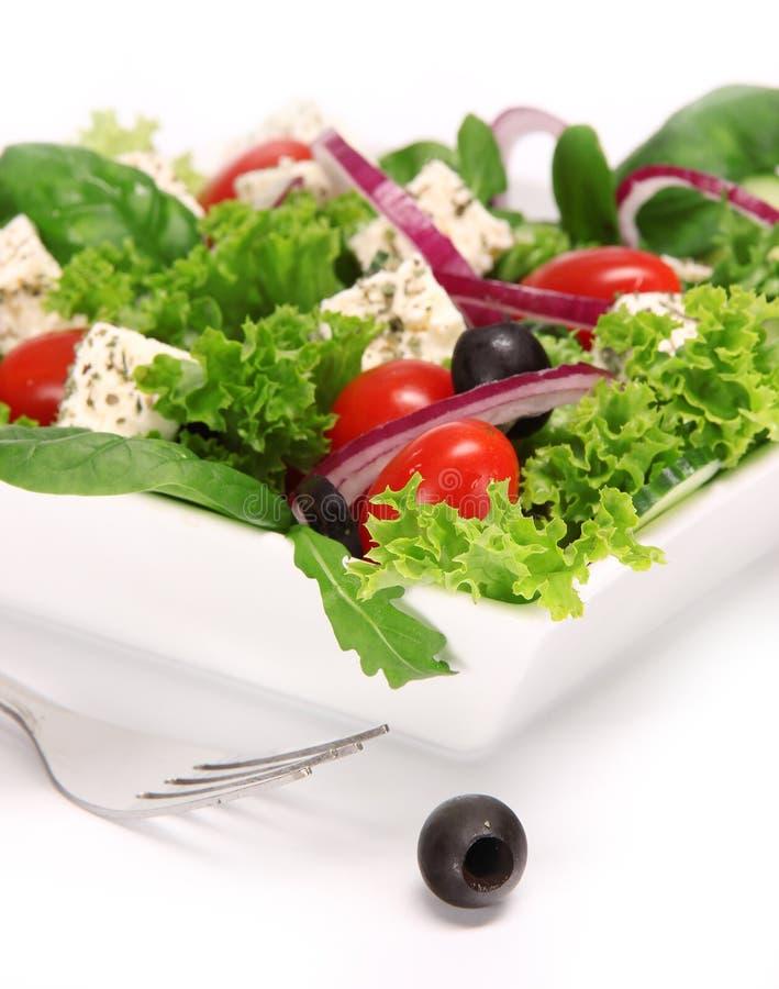 φρέσκια ελληνική σαλάτα στοκ φωτογραφίες με δικαίωμα ελεύθερης χρήσης