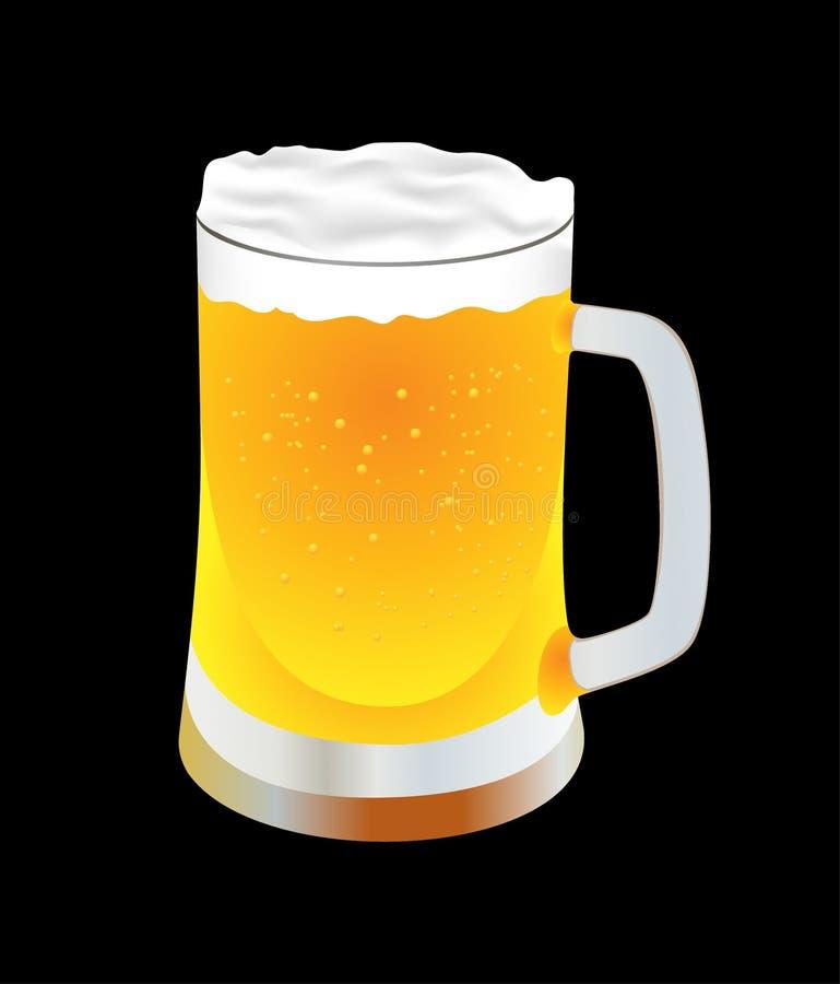 φρέσκια κούπα μπύρας ελεύθερη απεικόνιση δικαιώματος