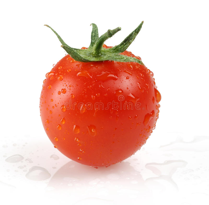 φρέσκια ντομάτα κερασιών στοκ φωτογραφίες