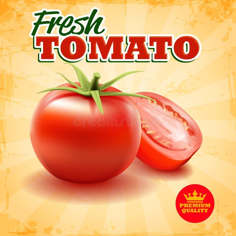 φρέσκια ντομάτα διανυσματική απεικόνιση