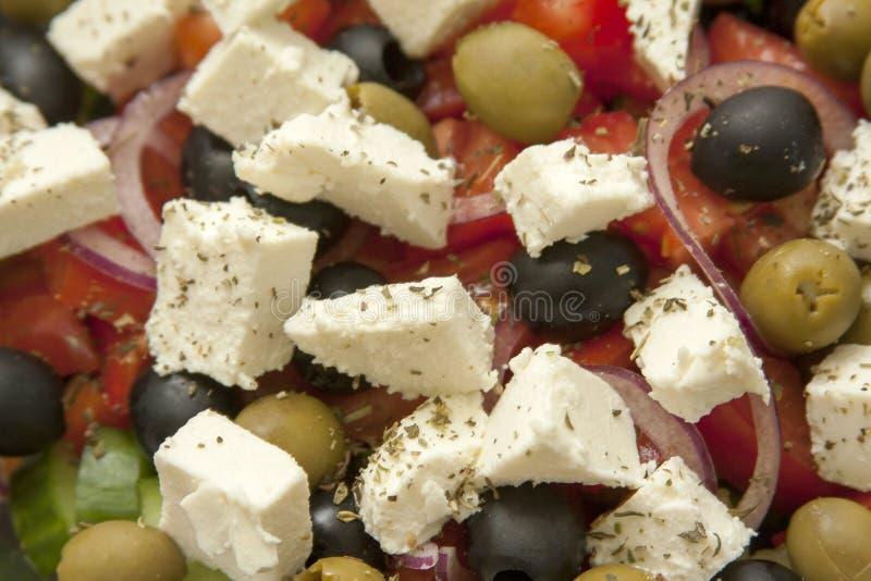 Φρέσκια νόστιμη juicy ελληνική κινηματογράφηση σε πρώτο πλάνο σαλάτας, τομέας εστιάσεως, υπηρεσία τροφίμων στοκ φωτογραφία με δικαίωμα ελεύθερης χρήσης
