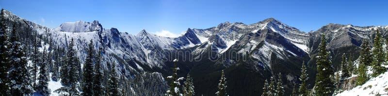 Φρέσκια σκηνή βουνών χιονιού λιμνών εμποδίων στοκ εικόνες