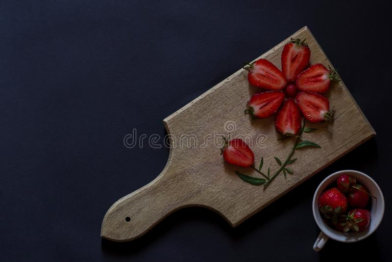 φρέσκια φράουλα Έμπνευση προσδιορισμού τροφίμων Οργανικός καρπός στοκ φωτογραφίες με δικαίωμα ελεύθερης χρήσης