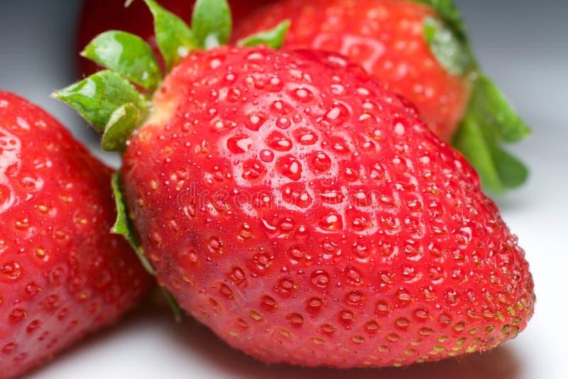 Φρέσκια φράουλα για τη διασκέδαση και την ευχαρίστηση στοκ φωτογραφίες με δικαίωμα ελεύθερης χρήσης