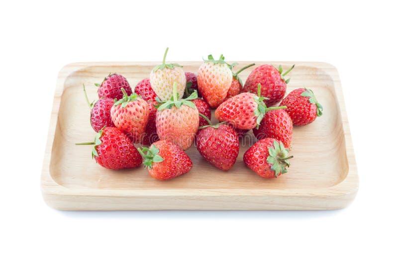 Φρέσκια φράουλα στο άσπρο υπόβαθρο, εκλεκτική εστίαση στοκ εικόνες