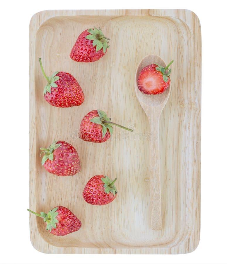 Φρέσκια φράουλα στο άσπρο υπόβαθρο, εκλεκτική εστίαση στοκ φωτογραφία με δικαίωμα ελεύθερης χρήσης