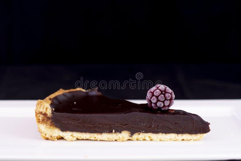 Φρέσκια ψημένη σοκολάτα ξινή με το σμέουρο στοκ φωτογραφία με δικαίωμα ελεύθερης χρήσης