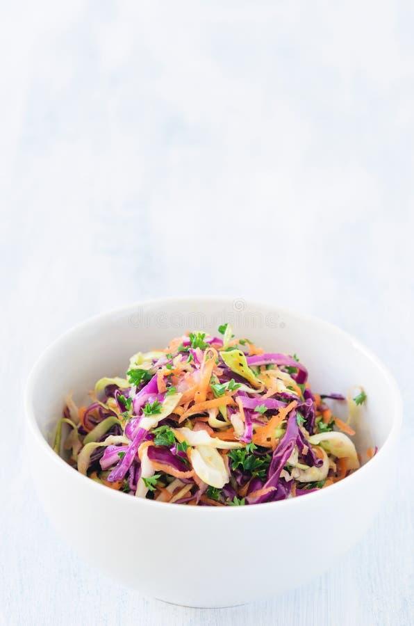 Φρέσκια coleslaw σαλάτα για το καλοκαίρι στοκ φωτογραφία
