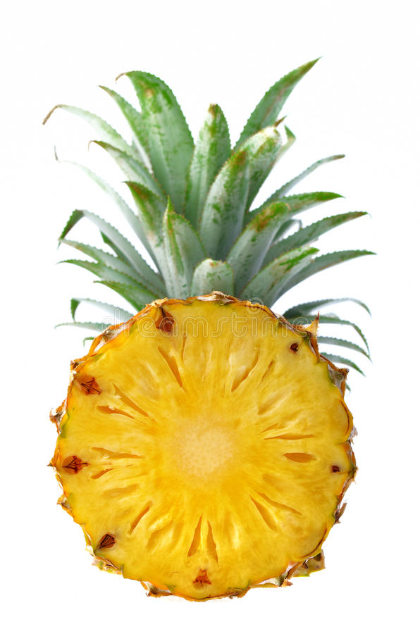 Φρέσκος ανανάς που απομονώνεται στο άσπρο υπόβαθρο στοκ εικόνες