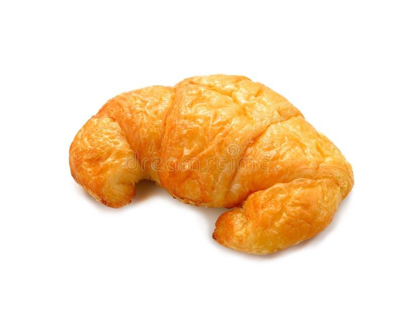 Φρέσκος και νόστιμος croissant πέρα από την άσπρη ανασκόπηση στοκ εικόνες με δικαίωμα ελεύθερης χρήσης