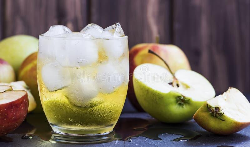 Φρέσκος μηλίτης της Apple στοκ εικόνα