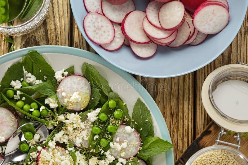 Φρέσκος νόστιμος, επιλογές, χορτοφάγος, vegan, μεσογειακές, shutterstock, φρούτα δράκων, εστιατόριο, πιάτο, φυτική σαλάτα, γεύμα, στοκ εικόνα