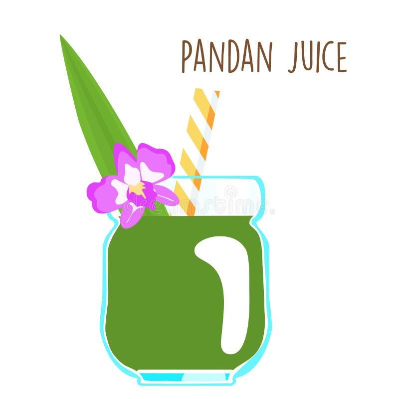 Φρέσκος πράσινος αρωματικός χυμός φύλλων pandanus ελεύθερη απεικόνιση δικαιώματος