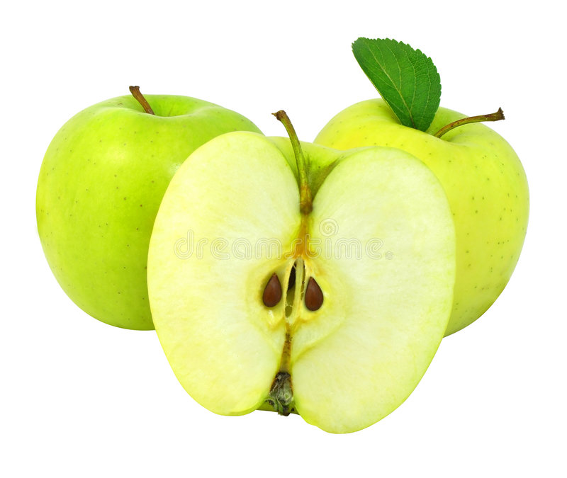 φρέσκος πράσινος μήλων στοκ εικόνες