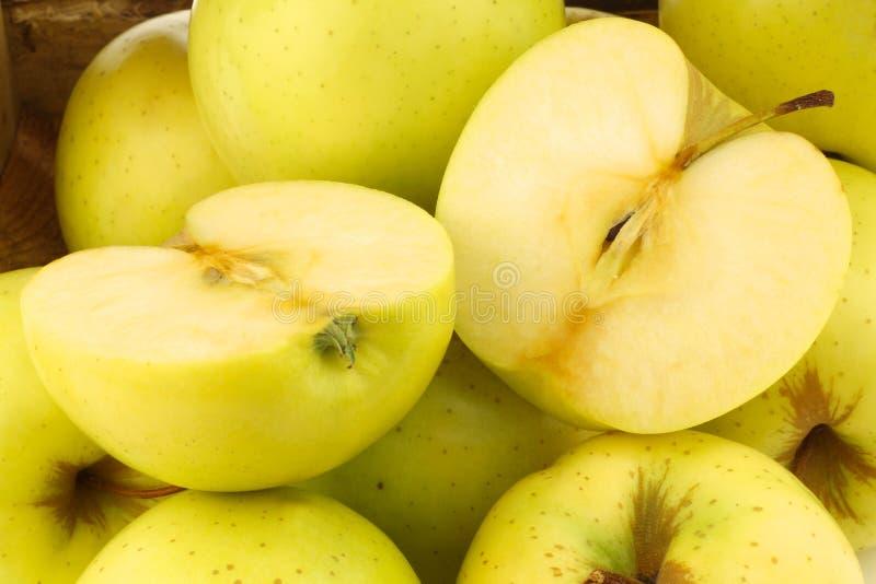 Φρέσκος χρυσός - εύγευστα μήλα στοκ εικόνες