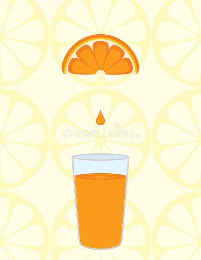 Φρέσκος χυμός από πορτοκάλι διανυσματική απεικόνιση