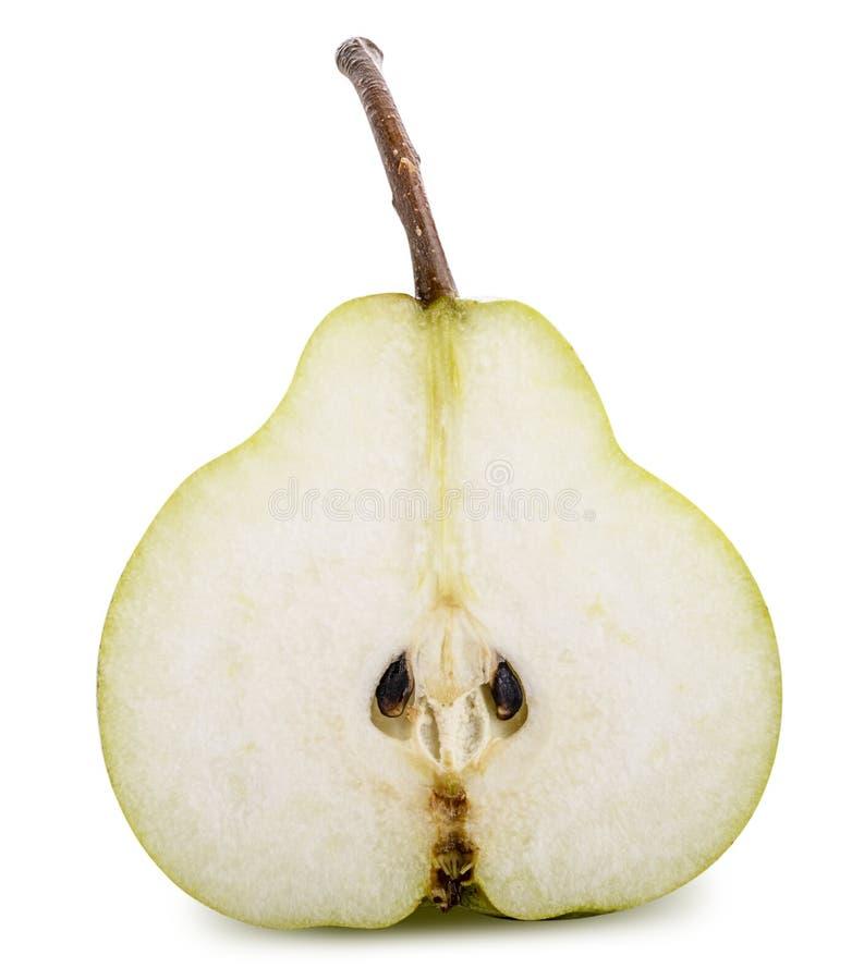 Φρέσκο αχλάδι που απομονώνεται στο άσπρο υπόβαθρο Ψαλιδίζοντας μονοπάτι στοκ φωτογραφίες με δικαίωμα ελεύθερης χρήσης