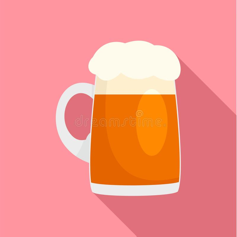 Φρέσκο γερμανικό εικονίδιο κουπών μπύρας, επίπεδο ύφος ελεύθερη απεικόνιση δικαιώματος
