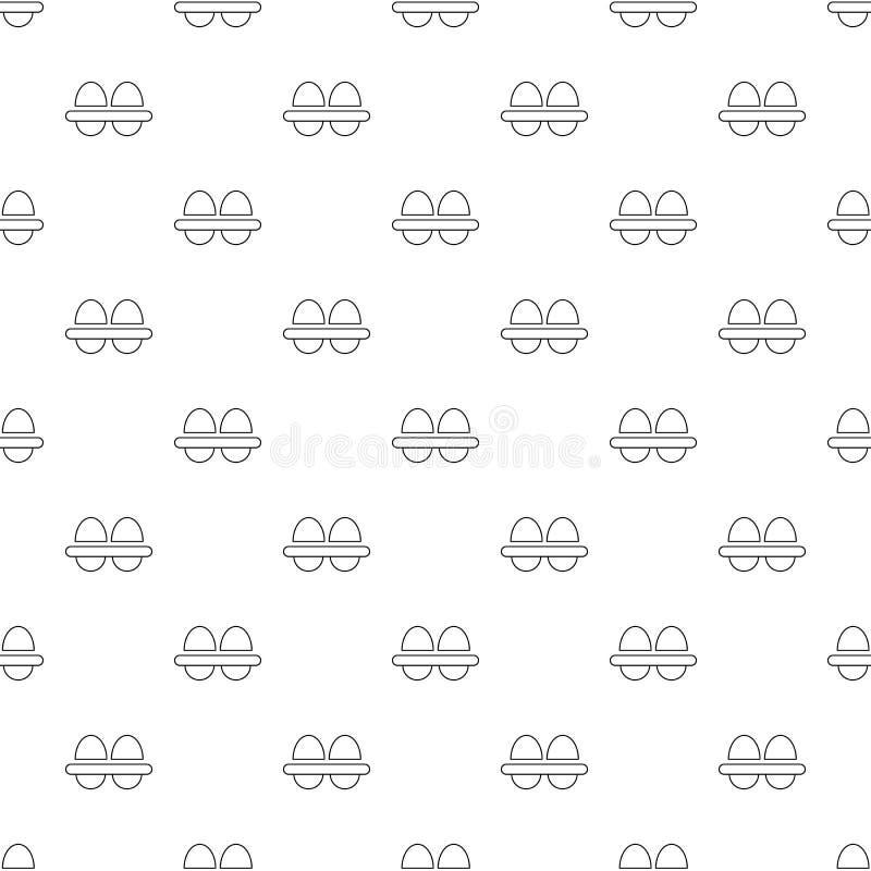Φρέσκο διάνυσμα σχεδίων αυγών άνευ ραφής ελεύθερη απεικόνιση δικαιώματος