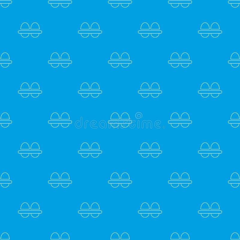 Φρέσκο διανυσματικό άνευ ραφής μπλε σχεδίων αυγών απεικόνιση αποθεμάτων