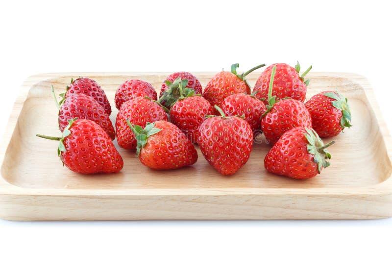 φρέσκο λευκό φραουλών αν στοκ εικόνα