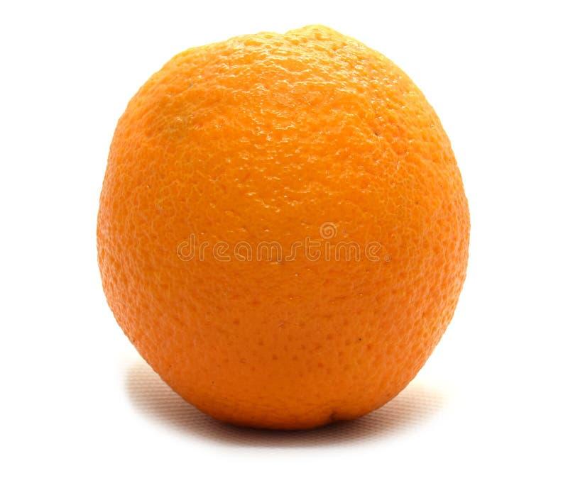 Φρέσκο κίτρινο πορτοκάλι που απομονώνεται στο άσπρο υπόβαθρο στοκ φωτογραφίες με δικαίωμα ελεύθερης χρήσης