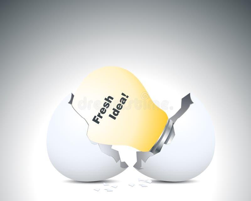 φρέσκο κοχύλι ιδέας αυγών ελεύθερη απεικόνιση δικαιώματος
