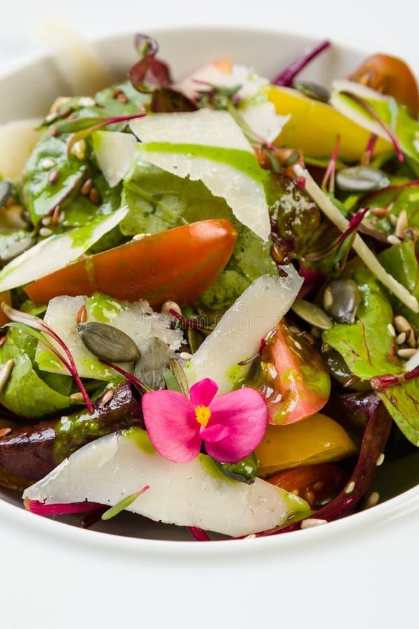 φρέσκο λαχανικό ντοματών σαλάτας μιγμάτων μαρουλιού αγγουριών στοκ εικόνες με δικαίωμα ελεύθερης χρήσης