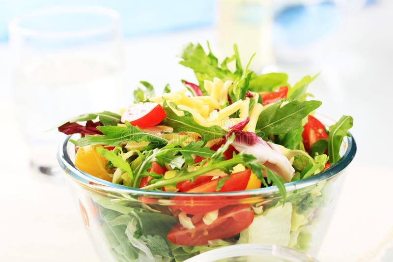 φρέσκο λαχανικό σαλάτας στοκ φωτογραφία