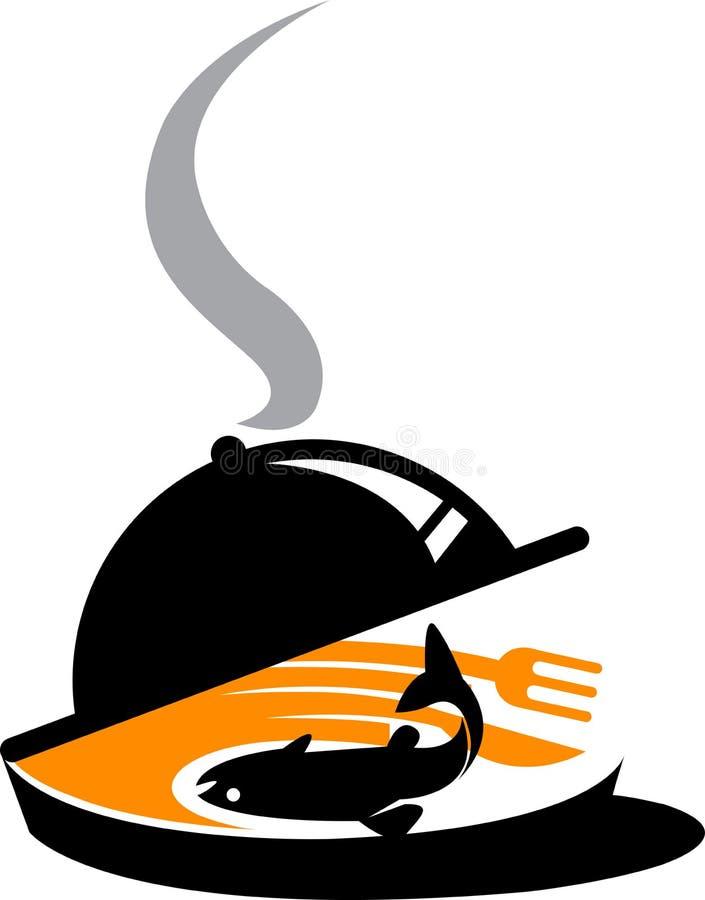 φρέσκο λογότυπο ψαριών διανυσματική απεικόνιση