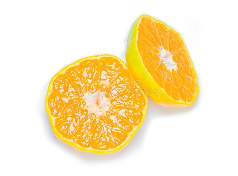 φρέσκο μισό πορτοκάλι στοκ εικόνα με δικαίωμα ελεύθερης χρήσης
