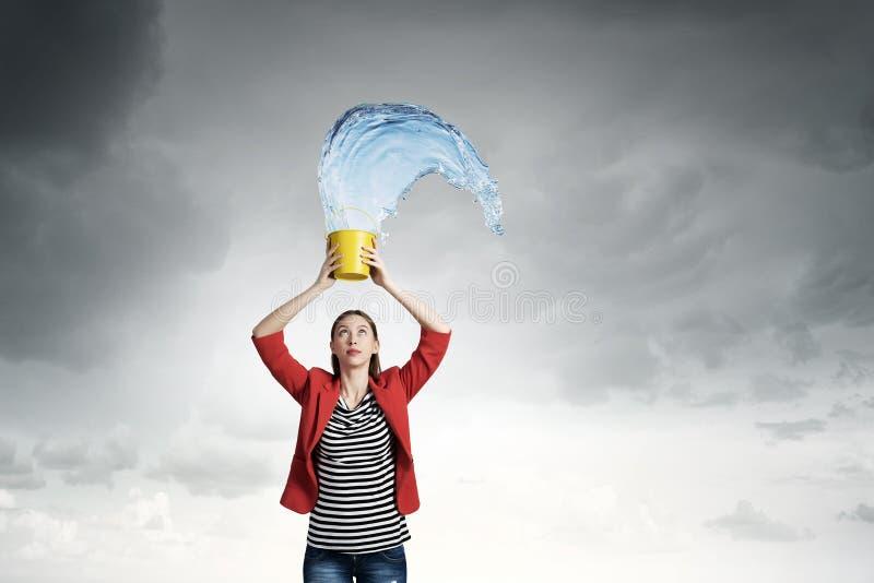 Φρέσκο νερό κρυστάλλου στοκ εικόνα με δικαίωμα ελεύθερης χρήσης