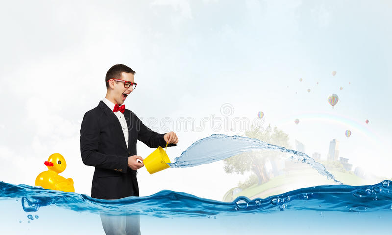Φρέσκο νερό κρυστάλλου στοκ εικόνα