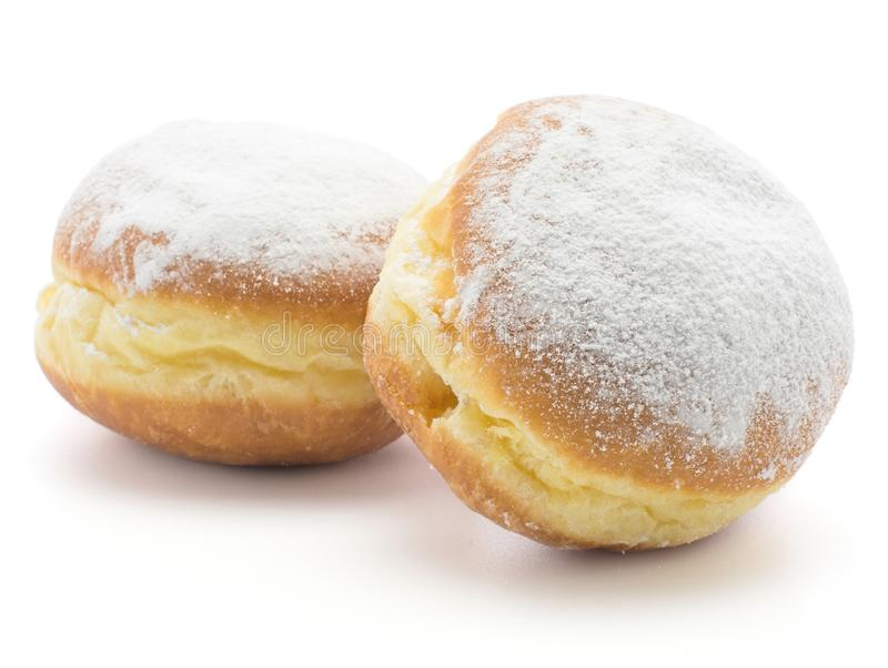 Φρέσκο παραδοσιακό doughnut που απομονώνεται στοκ φωτογραφίες